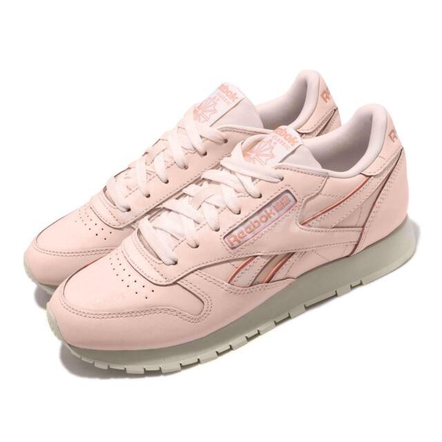 Reebok CL LTHR Pale Pink Paper White Chalk Women Classic Leather Shoes DV8432