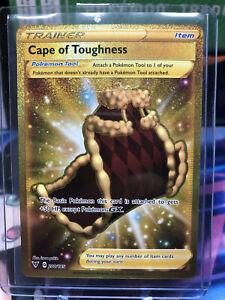 Pokemon Vivid Voltage Cape of Toughness Secret Rare Gold Holo 200/185 Pack Fresh