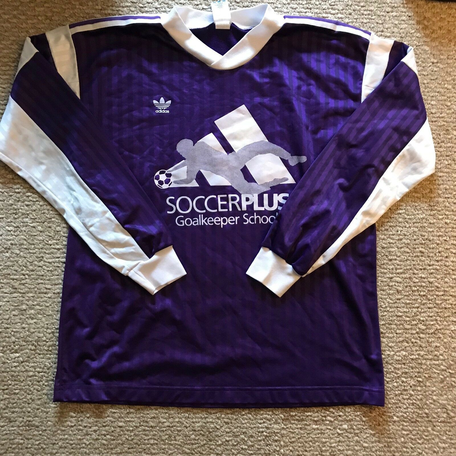 Super Rare Vintage 1980s Adidas Soccerplus Goalkeeper Jersey Size XL New Mens