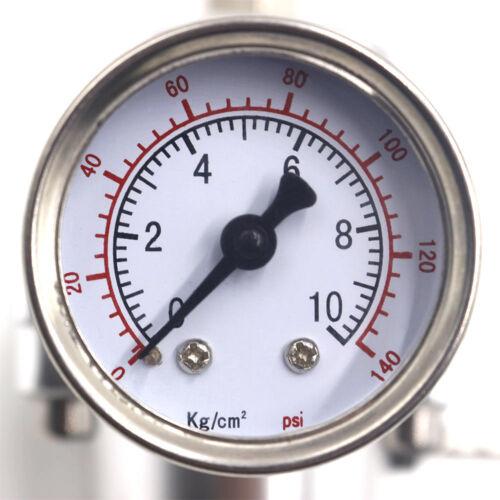 Gauge+Hose Black Universal Aluminum Adjustable 0-140PSI Fuel Pressure Regulator