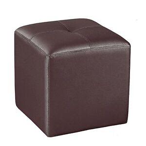 Puff cuadrado pouf de polipiel puf para sal n comedor o - Puff cuadrados ...