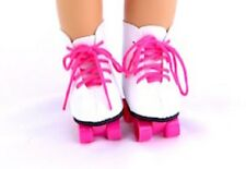 "Pink Roller Skates Fits 18"" American Girl Doll Clothes Shoes"