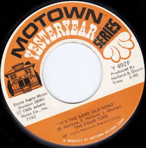 """THE FOUR TOPS - It's The Same Old Song   7"""" 45"""
