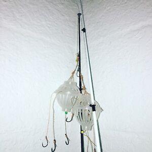 Lot-of-2-THE-CHUMSKI-Chum-Bucket-fishing-Rig-Beginner-Lure-bait-case-Rare