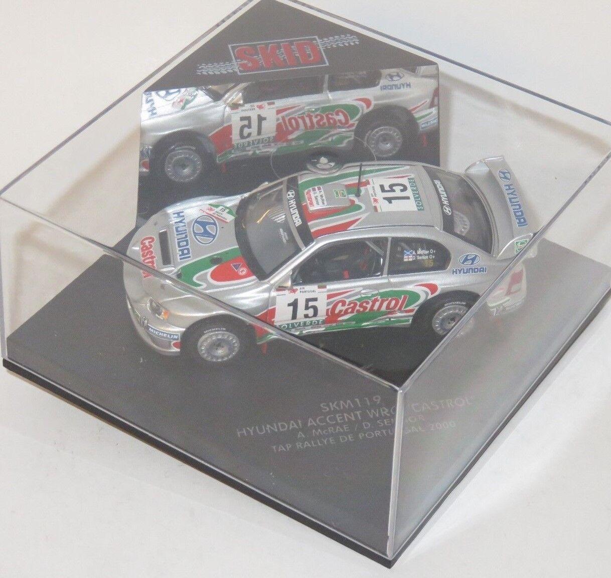 1 43 Hyundai Accent WRC CASTROL Rallye PORTUGAL 2000 A. McRae D. Senior