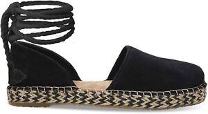 a51d6f2cb19 TOMS Women s 10011810 Katalina Black Suede Espadrille Footwear ...