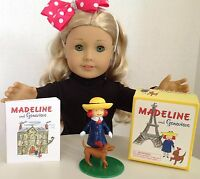 Madeline & Genevieve Mini Book For American Girl Doll 18 Accessories Set