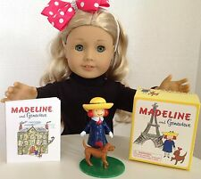 """Madeline & Genevieve Mini Book for American Girl Doll 18"""" Accessories SET"""