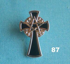 Sammeln & Seltenes Fanartikel & Merchandise Pflichtbewusst Satan Kreuz Pentagramm Alchemie Skull Gothik Pin Button Badge Anstecker # 87