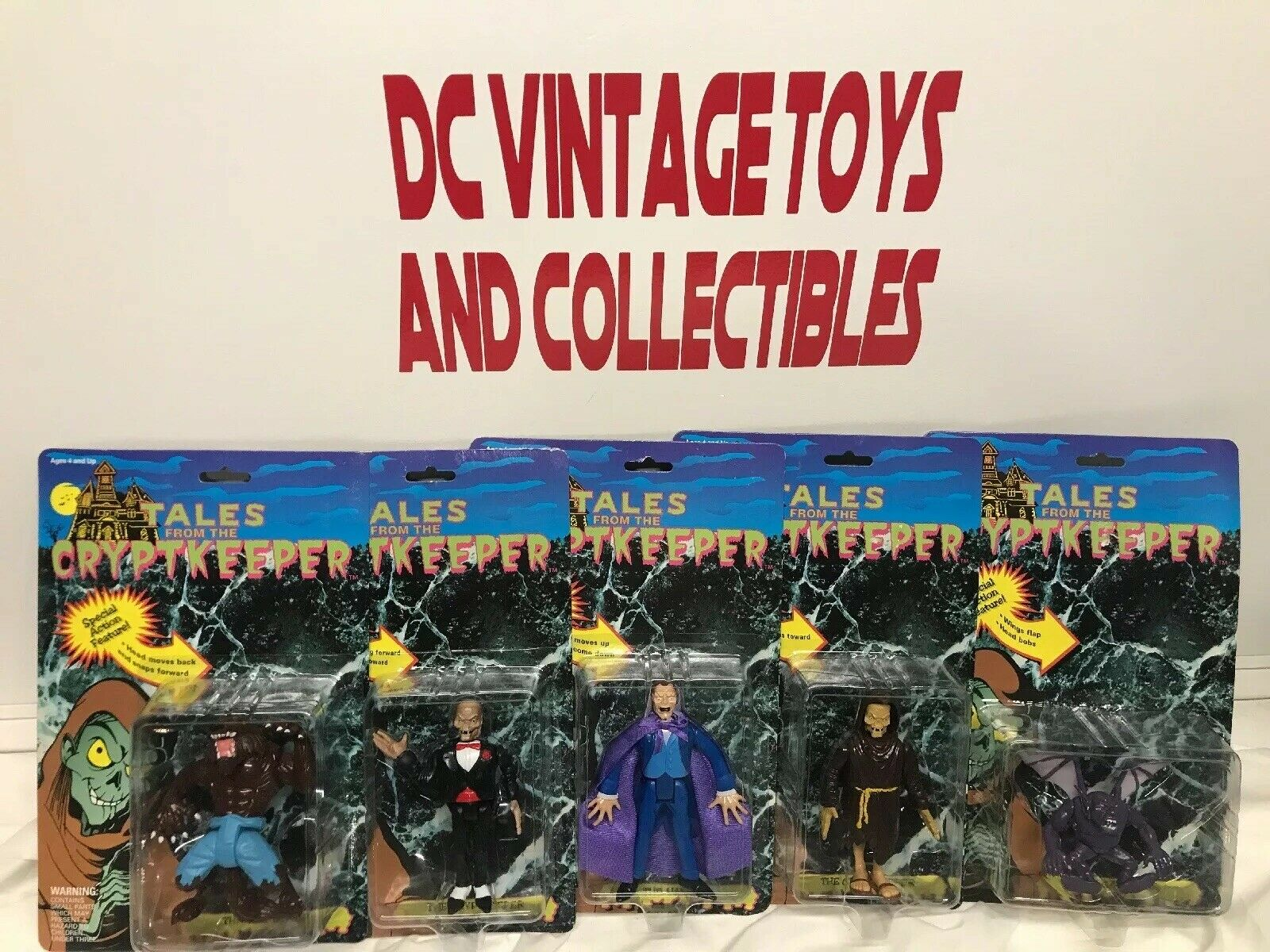 Vintage Ace Novelty Tales From the Crypt Keeper Figure Lot 6 Cryptkeeper Vampire