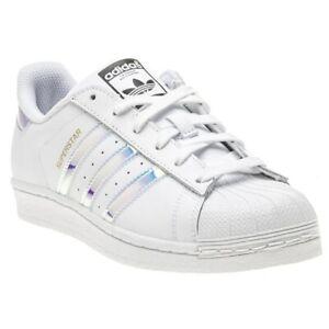 Dettagli su NUOVO Ragazze Bianco Adidas Superstar Foundation Scarpe da ginnastica stringati in pelle mostra il titolo originale