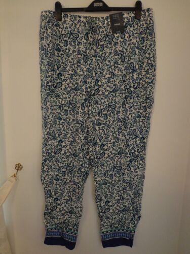 BNWT Femmes m/&s collection plage été jambe large pantalon taille 22 MEDIUM