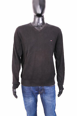*tommy Hilfiger Mens Sweather V-neck Black Xl