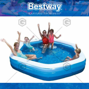 Au H2o Go Bestway Inflatable Hexagon Family Swimming Garden Pool 3