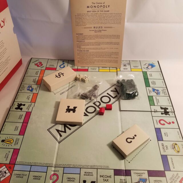 Vintage Monopoly Book Edition Bookshelf Game W Sleeve Money Cards Are Sealed