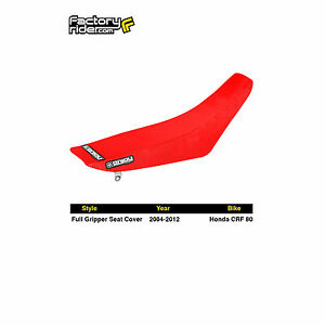 FidèLe 2004-2012 Honda Crf 80 All Red Full Gripper Seat Cover By Enjoy Mfg Officiel 2019
