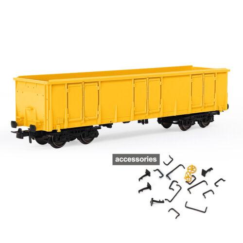 1pc//3pcs HO Scale Yellow Open Gondola Car 1:87 Railway Wagons Rolling Stock
