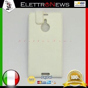 Custodia-cover-flip-verticale-per-Nokia-Lumia-1520-bianca