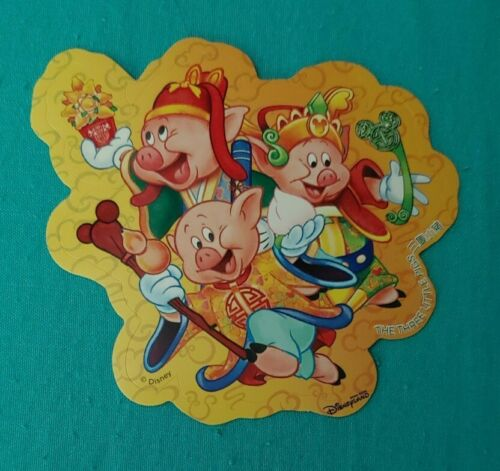 HKDL Official Disney Hong Kong Sticker Three Little Pigs
