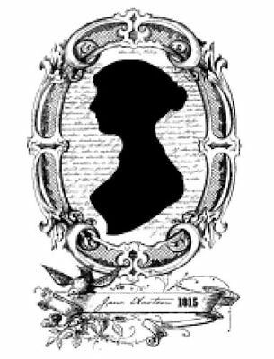 Vintage Image Jane Austen Silhouette Furniture Transfer Waterslide Decal WOM992