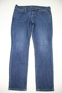 Old-Navy-Womens-Jeans-The-Flirt-Straight-Leg-Size-12-Short-Blue-Denim-28-Inseam