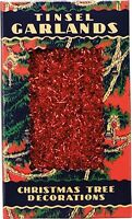 Decorative Antique Christmas Red Tinsel Garlandprimitive/vintage/country/tree