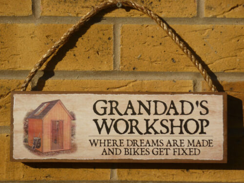 Signo de Garaje Patio Signo Signo De Bricolaje Taller Señal Placa de Nombre Signo De Nombre Signos De Jardín