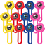 Power-Rangers-Ninja-Steel-Disc-Shooters-Birthday-Decoration-Party-Supplies-12ct miniatuur 1
