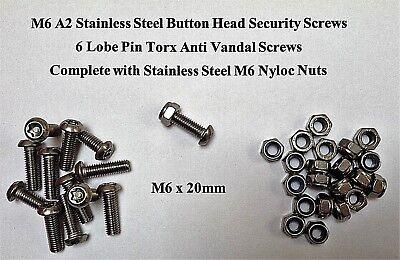BIKE A2 BUTTON HEAD SECURITY 6 LOBE PIN TX TORX ANTI VANDAL M8 BOLT SCREW
