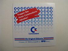 Comodore c64 - DIE ORIGINAL DISKETTE - Aufkleber Original 80er Jahre EINZELSTÜCK