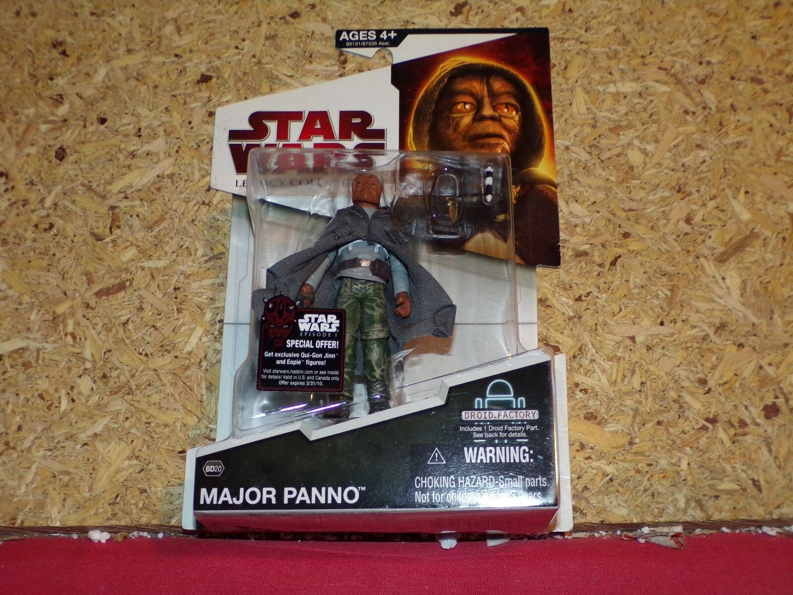 Star Wars The Legacy Collection Major Panno BD20 MOSC