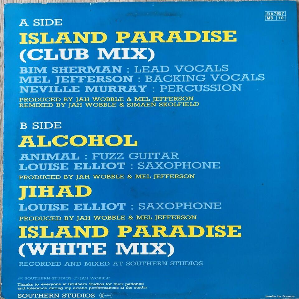 "Maxi-single 12"", Jah Wobble, Island Paradise"