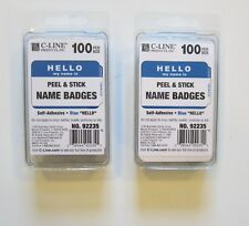 200 Blue Hello My Name Is Name Tags Labels Badges Stickers Peel Stick Adhesive
