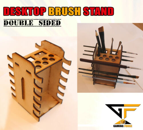 Paint Brush Tool File Holder Stand for Miniature Painting Desktop Holder DOUBLE