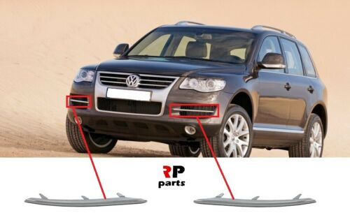 Per VW Touareg 2007-2010 paraurti anteriore coperchio griglia Mesh Chrome Trim Coppia Set