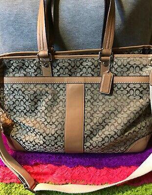 Leather Trim Zip Crossbody Shoulder Bag