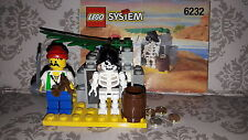 Lego 6232 Pirate - Skeleton Crew Castle 100% Complete 1996 2 Figures