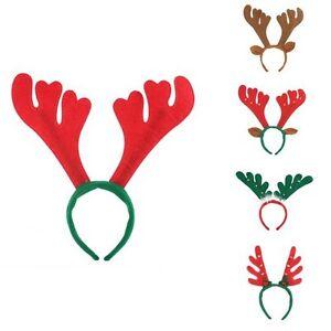 Deer Ciervo Navidad Cuernos Navidad Diadema Lote Accesorio De - Ciervo-navidad