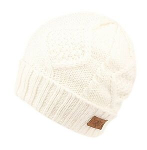 0229a5c51b6 Women Fall Winter Super Soft Warm Thick Knit Slouchy Beanie Skull ...