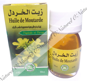 Huile-de-Moutarde-100-Pure-amp-Naturelle-30ml-Mustard-Oil-Aceite-de-Mostaza
