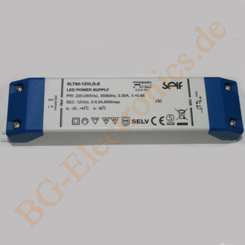 1 x conmutador 60w 12v SNT ip20 60w 12v//5a slt60-12vlg-e self elec 1pcs