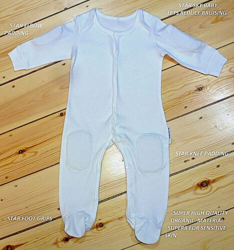 2 X Baby Protective Jump Suit Outfit Romper for Knees /& Elbows H//Q ORGANIC
