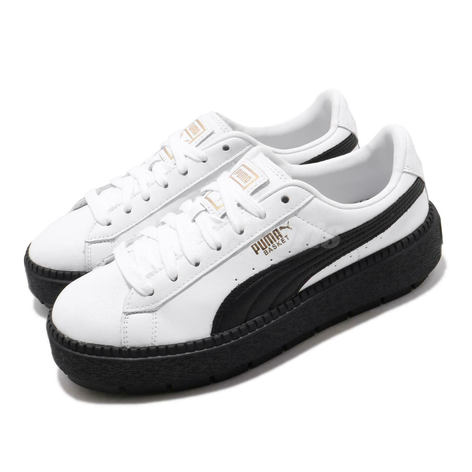 Puma Platform Trace L Wns Basket White Black Women Casual ...