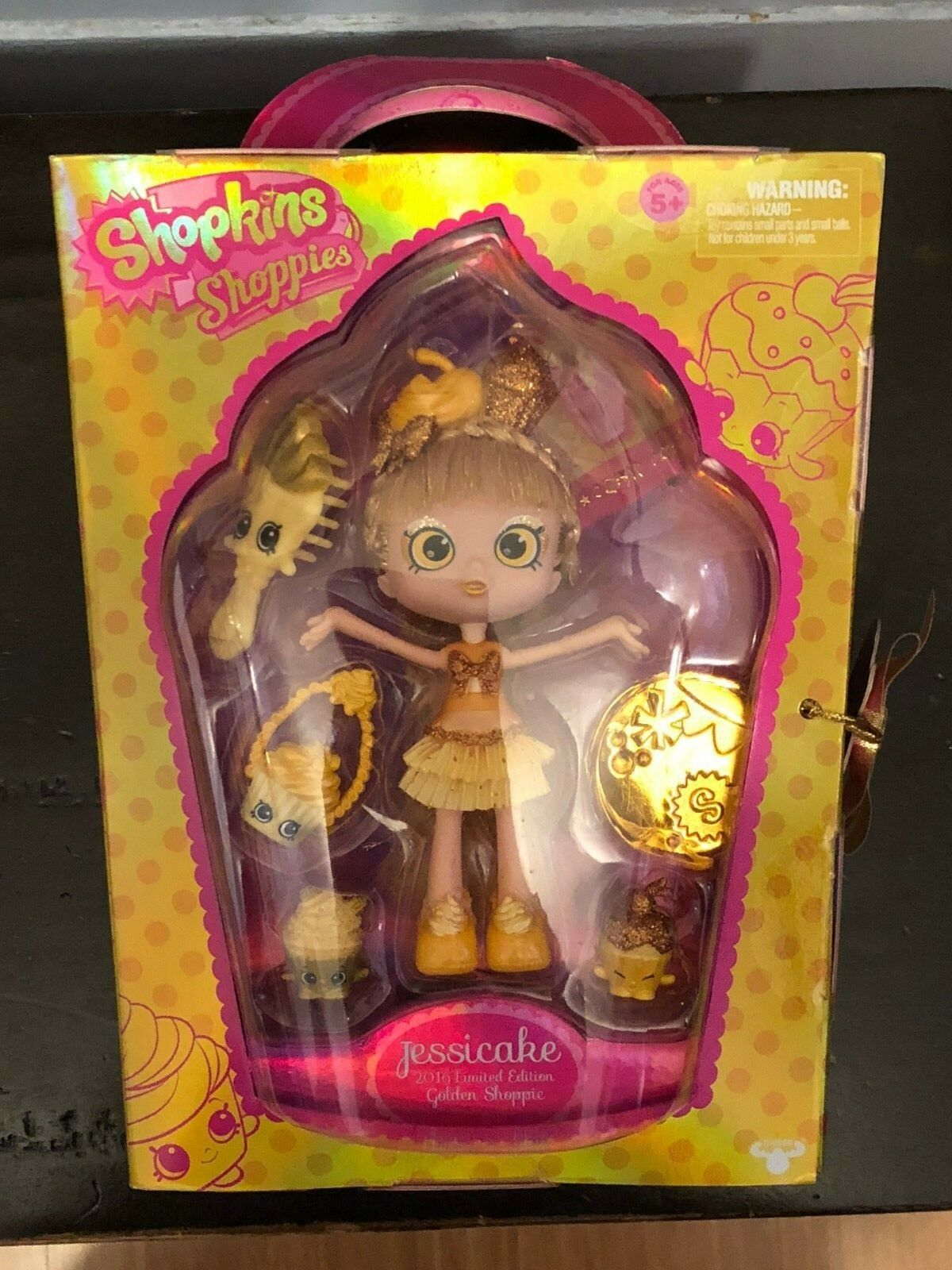 Shopkins SDCC Exclusive golden Jessicake Shoppie Doll Limited Edition NEW
