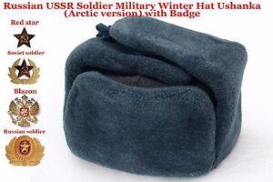 62e5f14c311 Image is loading Original-Ushanka-Russian-USSR-Soldier-Military-Winter-Hat-