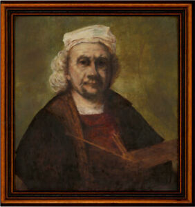 John-M-Edwards-Framed-Contemporary-Oil-Self-portrait-after-Rembrandt