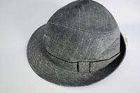 Henschel Linen Fedora Hat Grey