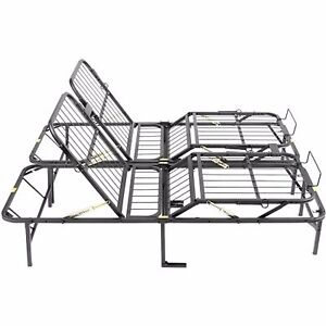 Image is loading Bed-Frame-Base-King-Size-Adjustable-Head-And- Bed Frame Base King Size Adjustable Head And Foot Platform Folding