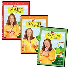 Signing Time DVDs set 1-3 ASL for kids