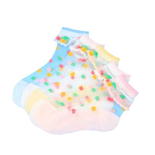 AM/_ EE/_ 5PAIRS KIDS GIRLS/' SUMMER THIN SILK SOCKS BREATHABLE SWEAT ABSORB SOCKS